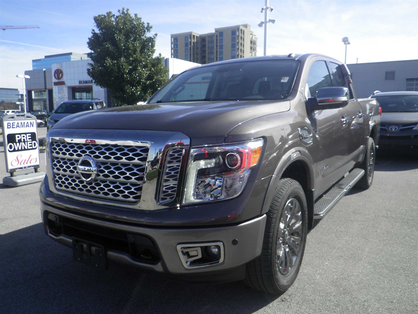 Pre Owned 2017 Nissan Titan Platinum Reserve Crew Cab Pickup In